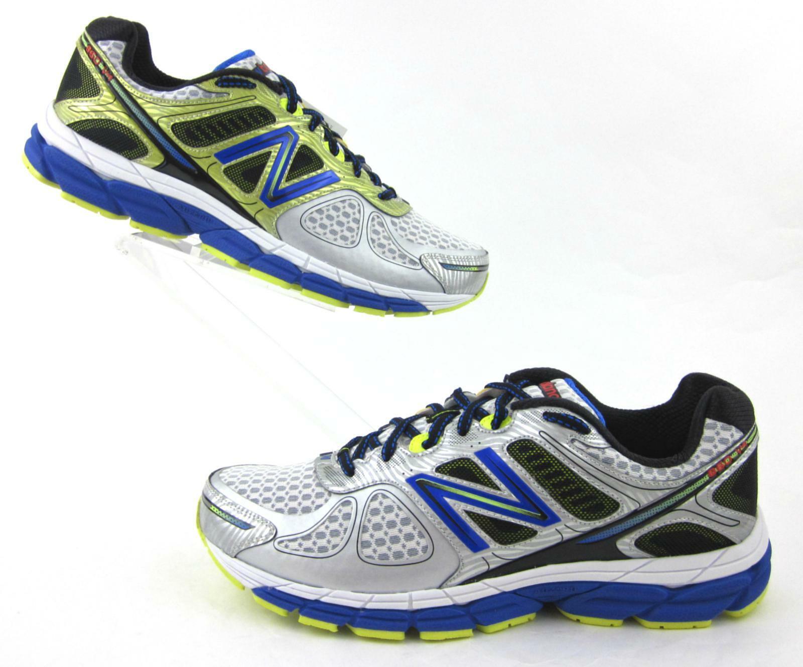Neuf avec étiquettes   nouveau   860v4 Chaussures De Course Argent Bleu 13 US 2E grand