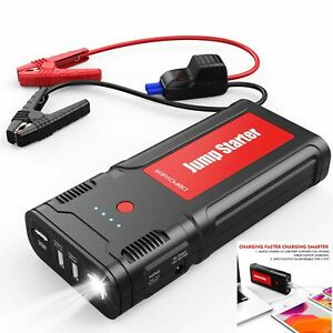 2500a 21800mah Portable Car Jump Starter Auto Battery Booster Pack Usb Charger Ebay