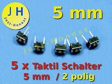 Stk.5x Taktil Schalter (Taster) / Tact Switch 5 mm Reset Arduino PCB #A335