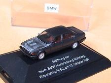 Herpa BMW 7-er 750i E-32 1988 Nürnberg Motorhaube transparent schwarzmet. PC