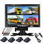 thumbnail 2 - 7-inch-Car-Monitor-4-split-screen-4-Auto-dimming-LED-Night-cameras