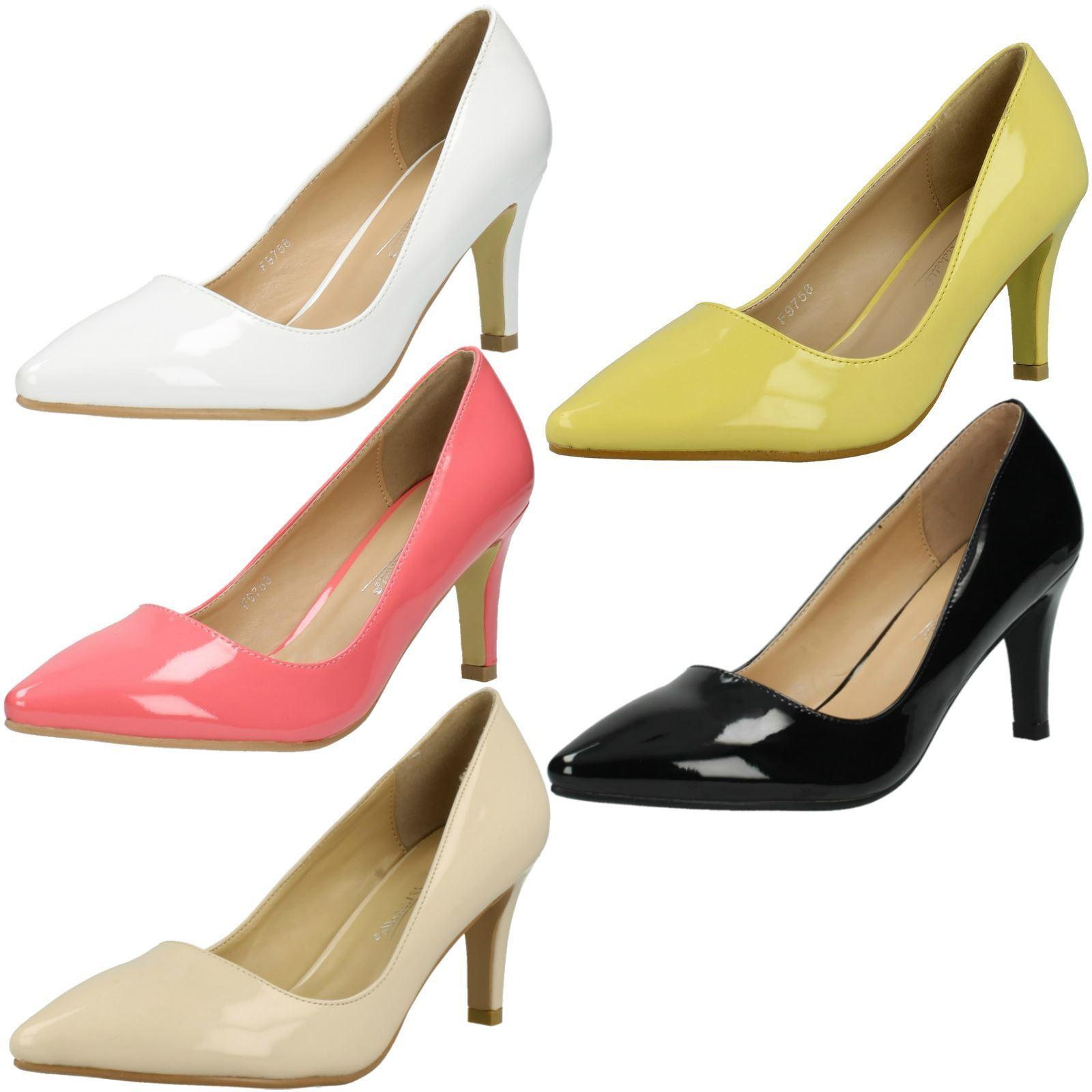 Ladies Anne Michelle Patent 'Court Heels'
