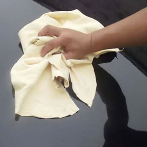 1pc Car Wash Clean Natural Genuine Leather Chamois Shammy Sheepskin Absorb Towel