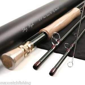 Details about Fast Action Skyhigh Fly Fishing Rod IM12 Toray Carbon 10FT 7WT 4pcs Tip Flex 9.5