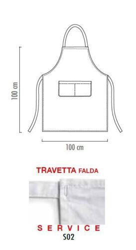 FALDA GREMBIULE PETTORINA CUOCO CHEF BIG APRON CONVOY 100x100 CM EGOCHEF