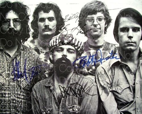 The Grateful Dead signed Garcia Hunter 8X10 photo picture poster autograph RP 2