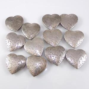 VINTAGE-Sterling-Silver-main-chasse-Coeur-Amour-Southwestern-Bouton-Couvre-LDH4