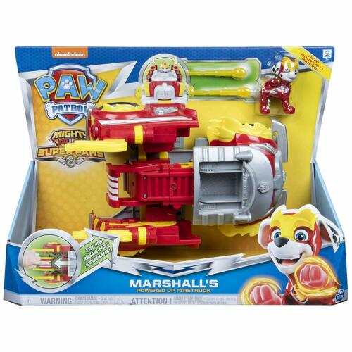 PAW Patrol Mighty Pups Super PAWs Marshall's Powered Up Firetruck *BRAND NEW*