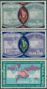 Thailand-1965-SG524-527-International-Correspondence-Week-part-set-MNH