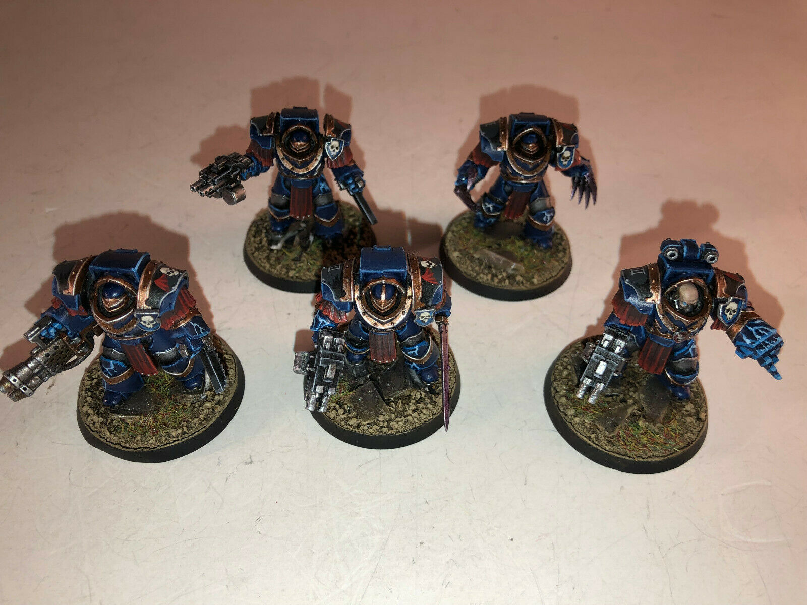 Warhammer 40000 40k Chaos Space Marines Cataphractii Terminators painted 9 10