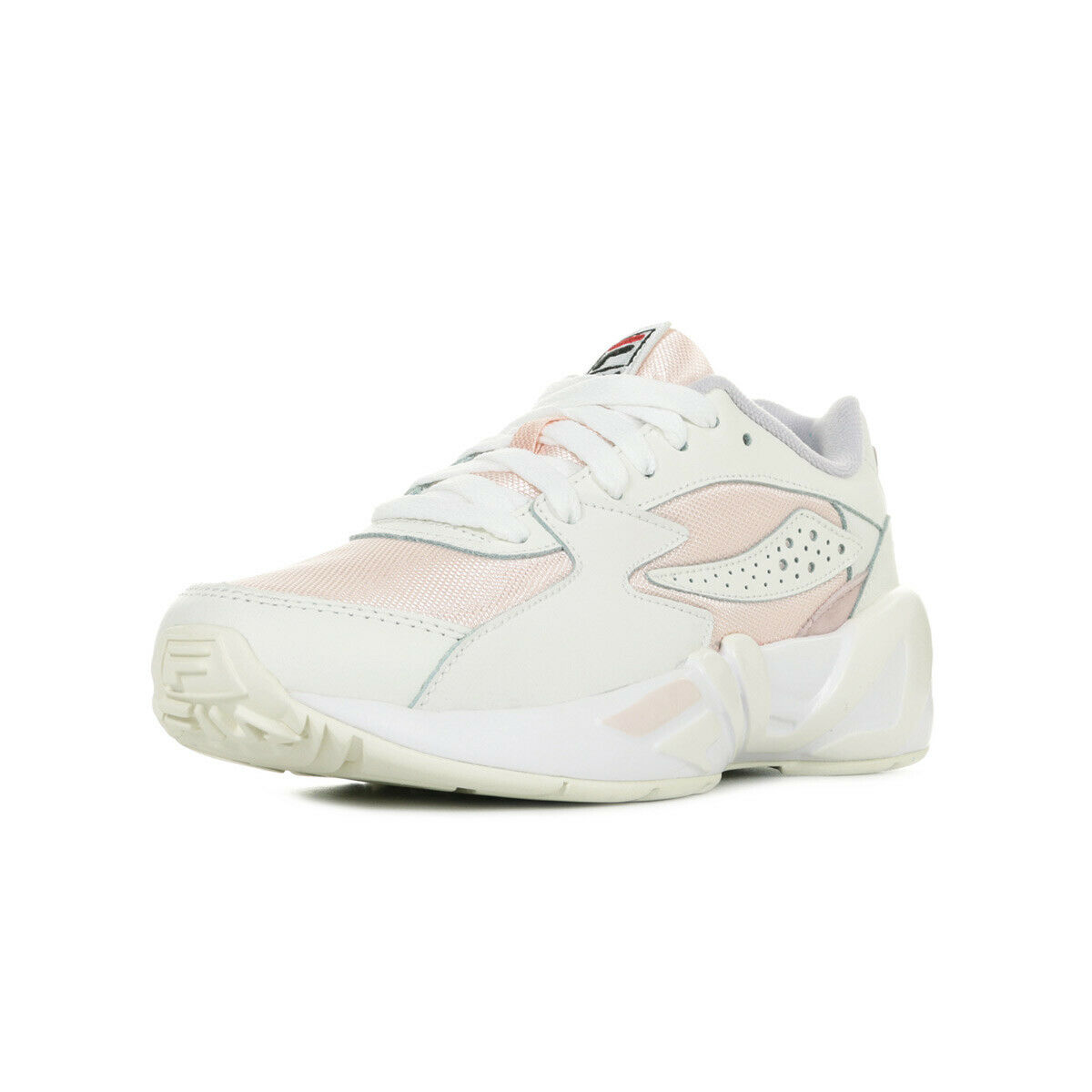 Chaussures Baskets Fila femme Mindblower Wn's taille Blanc Blanche Cuir Lacets