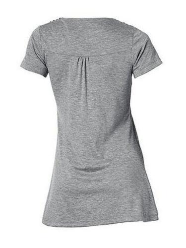 Grau meliert Heine KP 49,90 € SALE/%/%/% Shirt mit Nieten NEU!!