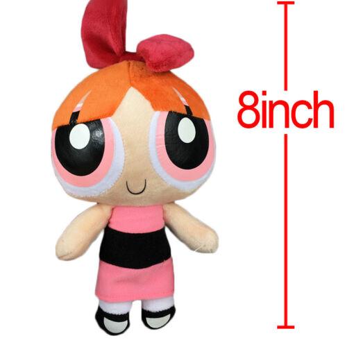 "3pcs//set The Powerpuff Girls 1999 Cartoon Network Plush Toy 9/"" Doll Xmas Gift US"