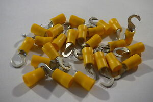 25-pack-of-yellow5-0mm-hook-terminal-crimp-for-5-0mm-bolt-screw