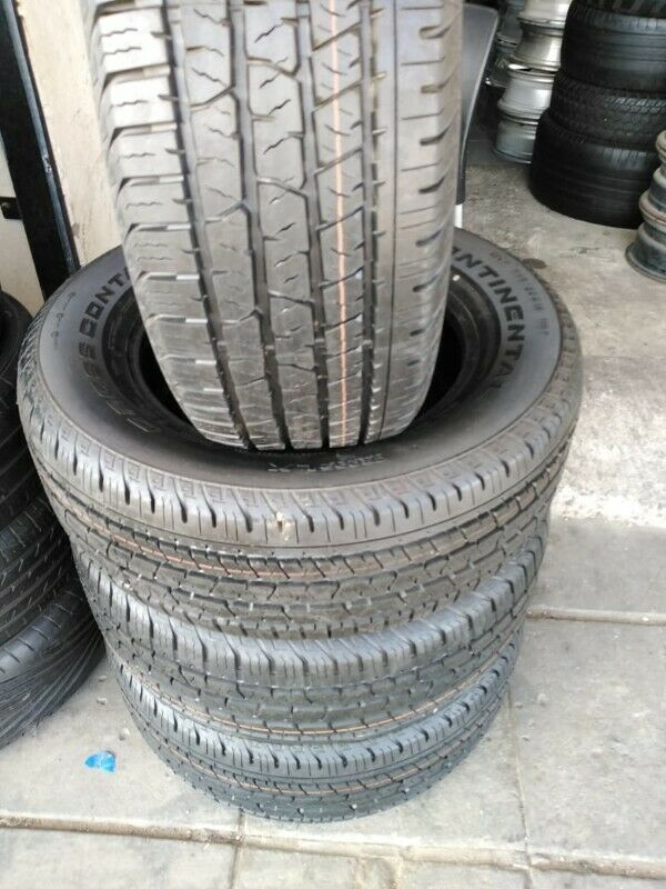 4 x brand new 265 60 18 continental cross contact tyres