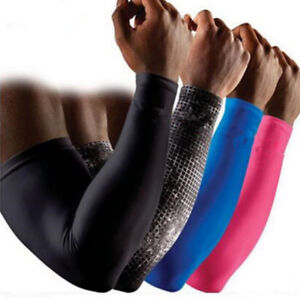 Compression-Sports-Elastic-Fitness-Elbow-Arm-Sleeve-Brace-Support-Pain-Relief-UA