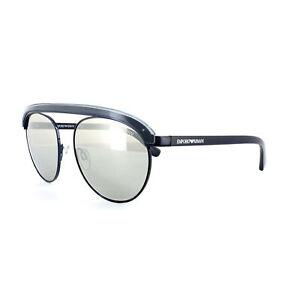 b608c82f0a9 Image is loading Emporio-Armani-Men-Rounded-Sunglasses-EA2035-30196G- Gunmetal-