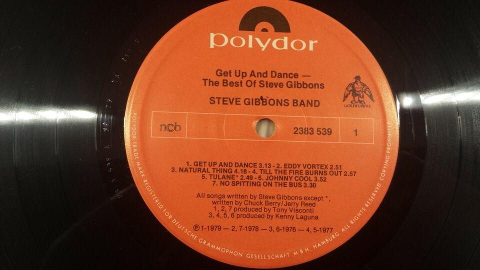 LP, Steve Gibbons Band, Get Up And Dance - The Best Of Steve