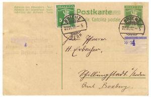 Schweiz-Ganzsache-P-36-ZuF-Brienz-BE-27-06-1912