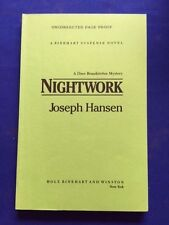 NIGHTWORK - UNCORRECTED PROOF SIGNED BY JOSEPH HANSEN