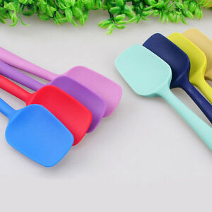 Silicone-Utensil-Mixing-Spoon-Non-Scratch-Spatula-Cooker-Bake-Heat-Resistant-New