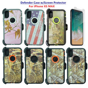 promo code 49378 2a381 Details about For Apple iPhone XS Max Defender Camo Case Cover w/Screen &  Clip fits Otterbox