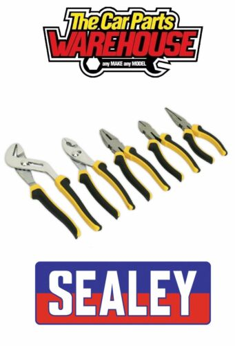 Sealey S0646 Comfort Grip Pliers Set 5pc FIVE PIECE KIT