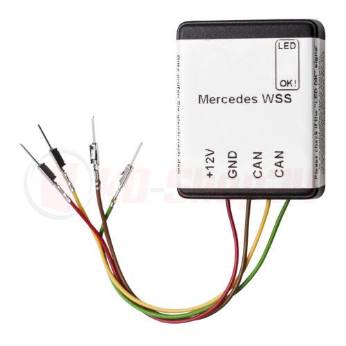 Mercedes Benz WSS sistema esterilla sede detección airbag sensor maletero