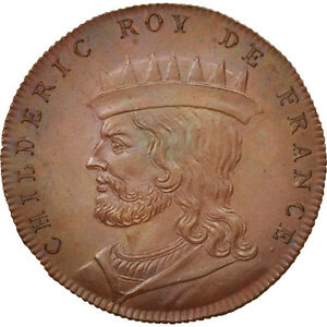 #410150 Medal France Xixth Century Childéric I 64 Ms Copper Enthusiastic History