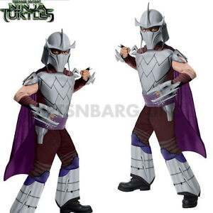 Image is loading Shredder-Teenage-Mutant-Ninja-Turtle-Costume-TMNT-Deluxe-  sc 1 st  eBay & Shredder Teenage Mutant Ninja Turtle Costume TMNT Deluxe Muscle Kids ...