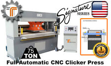 New Cjrtec 75 Ton Traveling Head Cnc Clicker Press Die Cutting Machine