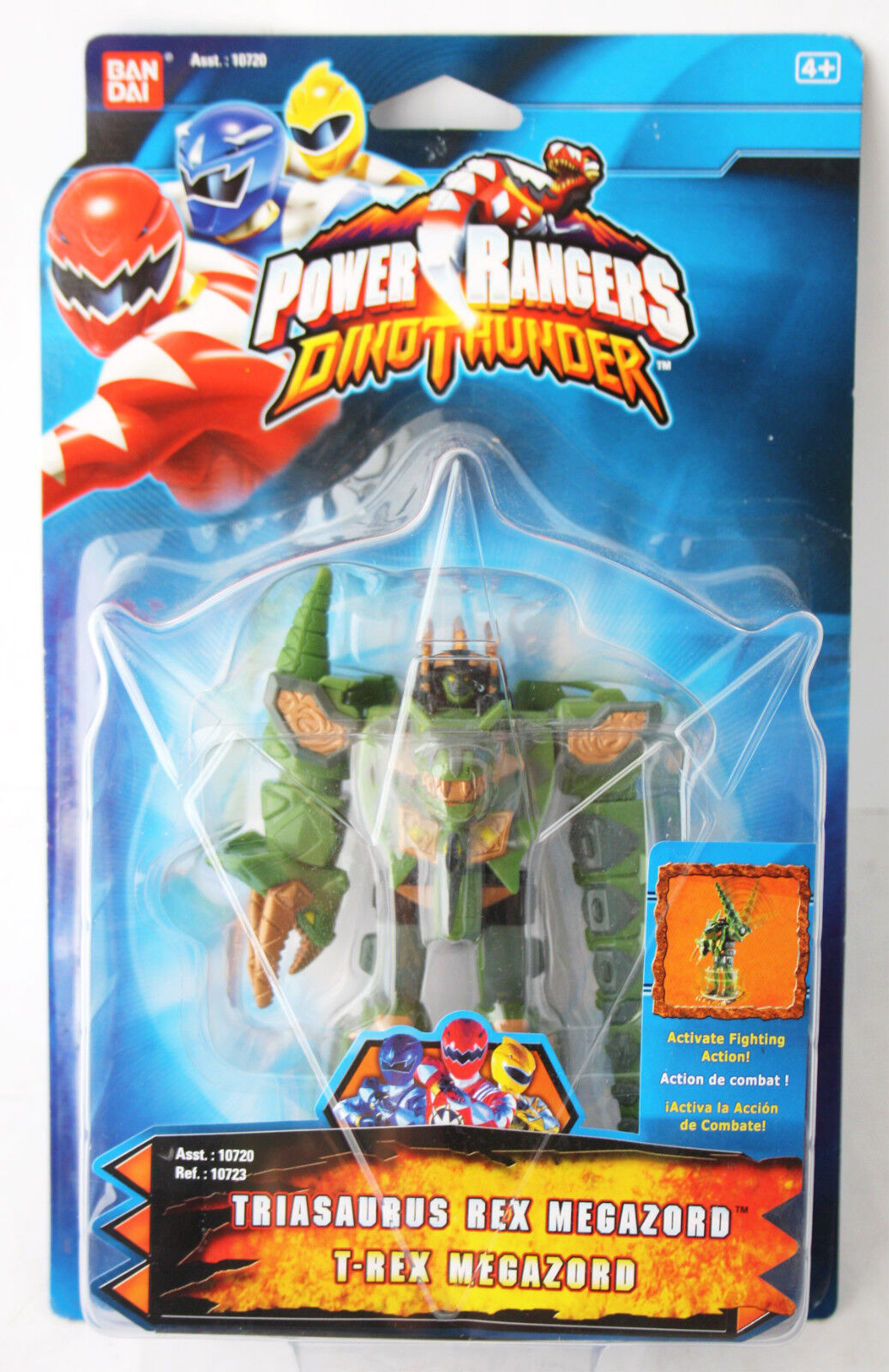 RARE POWER RANGERS DINO THUNDER verde TRIASAURUS MEGAZORD BANDAI NEW SEALED