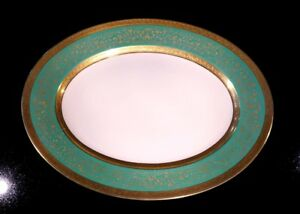 Stunning-Antique-Rosenthal-Selb-Plossberg-Gold-Encrusted-Aida-Large-Oval-Platter