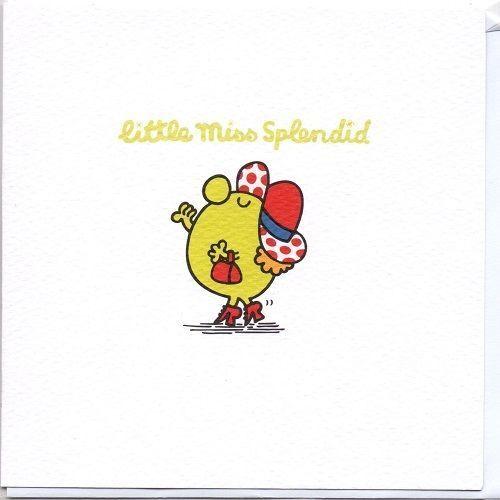 Mr Men Little Miss Blank Greeting Card