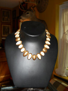 Vintage-Anne-Klein-Cream-Enamel-Necklace-18-034-Gorgeous