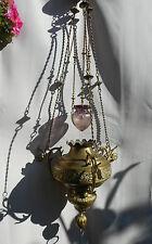 SUPERBE ANCIEN  SUSPENSION D'EGLISE/lampe sanctuaire/GOTHIQUE/XIXéme/H.MAX 120cm