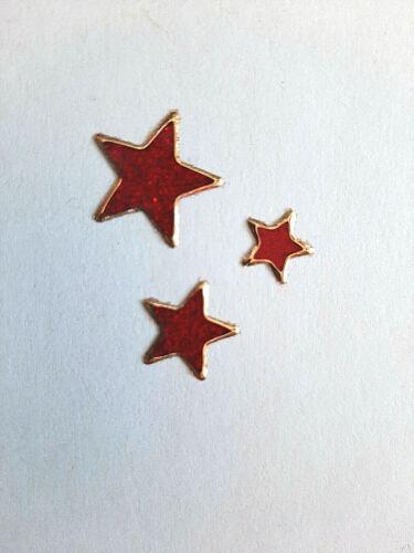 Weihnachten 7078 Nr Christmas Sterne Glitzer Stickerbogen Rot