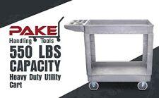 Pake Handling Tools Plastic Utility Cart 550 Lbs Capacity 38 X 1725