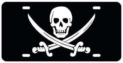 Pirate Flag Vehicle License Plate Front Auto Tag NEW Jolly Roger Ocean sea Boat