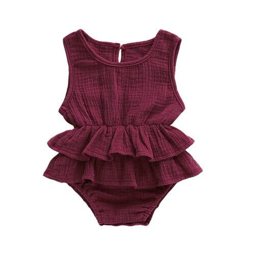 ITFABS Newborn Baby Kid Girls Clothes Sleeveless Romper Tutu Dress