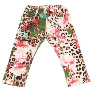timeless design ceff9 5653c Details about 9894V pantalone bimba ROBERTO CAVALLI floral cotton pant kid