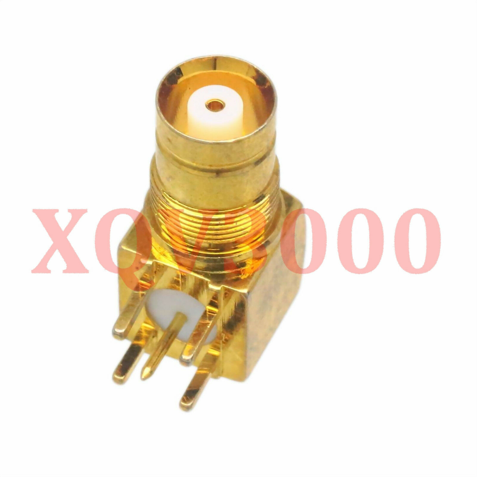 1pce Connector BNC jack pin bulkhead solder PCB mount RF COAXIAL Right angle