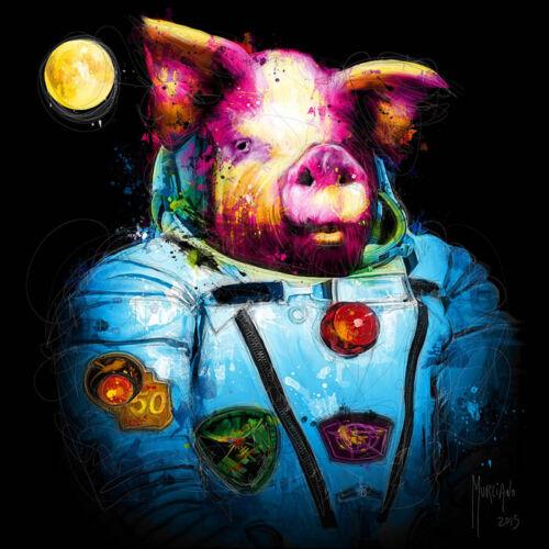 FIRST PIG IN SPACE BY PATRICE MURCIANO POP ART PRINT KEYRINGS-MUGS-ART PRINT