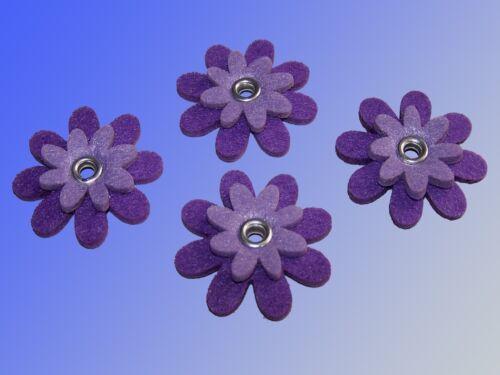 2-plis Feutre Fleur déco fleur 4 pièces feutre de fleurs par ø5cm Bastelfilz