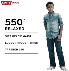 NEW-Levi-039-s-550-relaxed-fit-12-Husky-32-x-27-Jeans-Boy-039-s