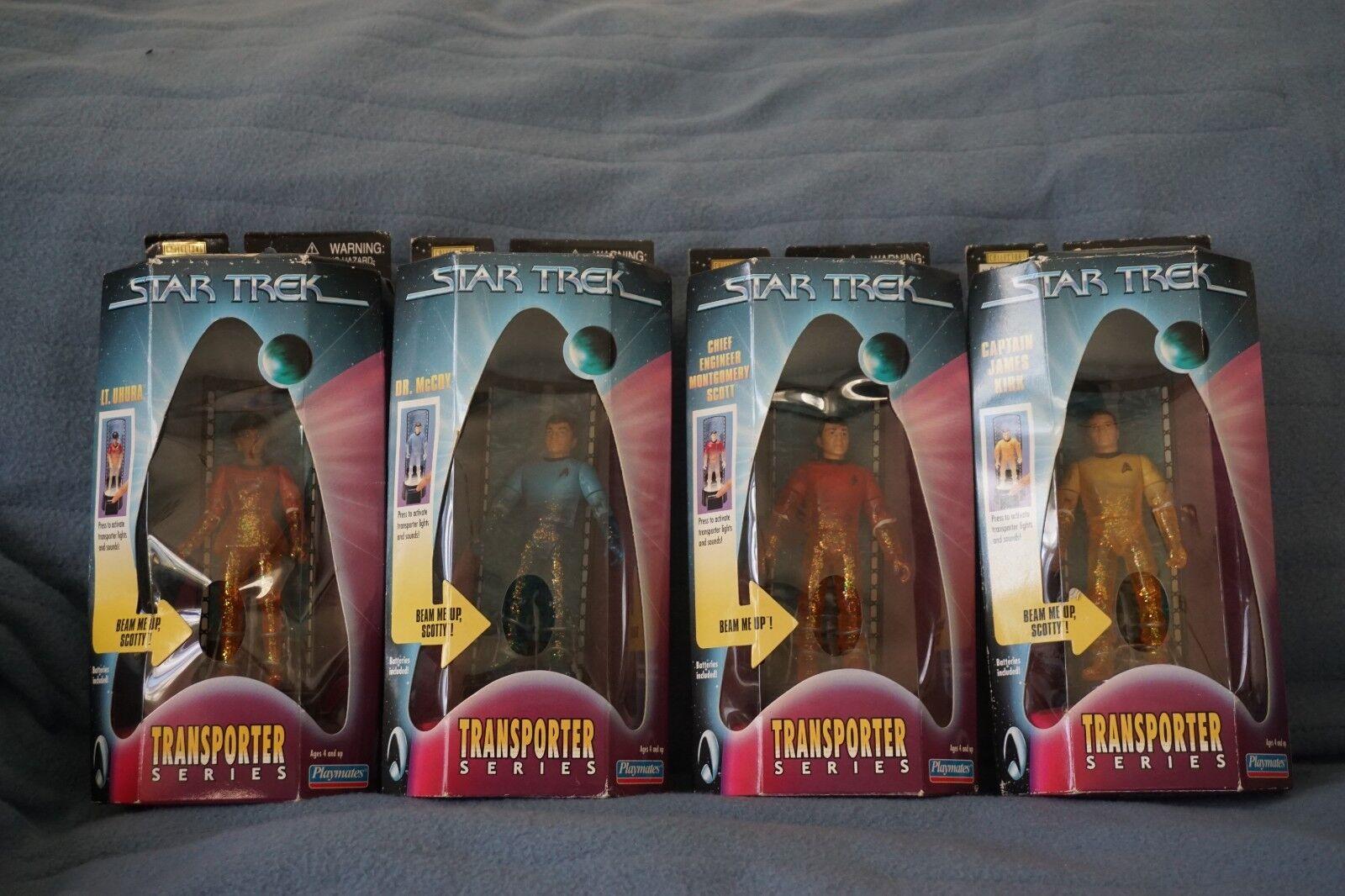 Lot of 4 1998 Star Trek The Original Series Transporter Series Action Figures