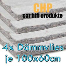 4x CHP Dämmvlies selbstklebend 4 Matten PKW Schalldämmung KFZ 10mm Vlies 2,4m²