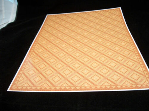 Tile Wall /& Flooring Set covers 1 dollhouse room #34481