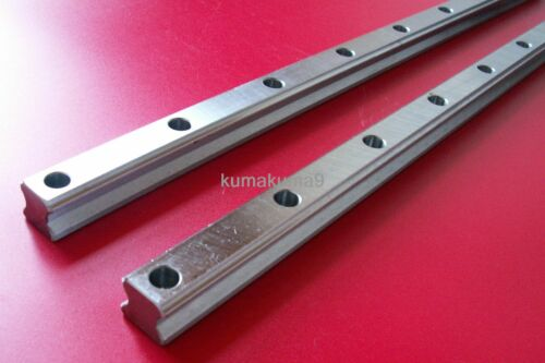 CNC Set 25-1200mm 2x Linear Guideway Rail 4x Square type carriage bearing block