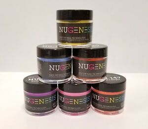 NUGENESIS-Nail-Color-Dip-Dipping-Powder-1oz-jar-NU121-186-Choose-your-Colors